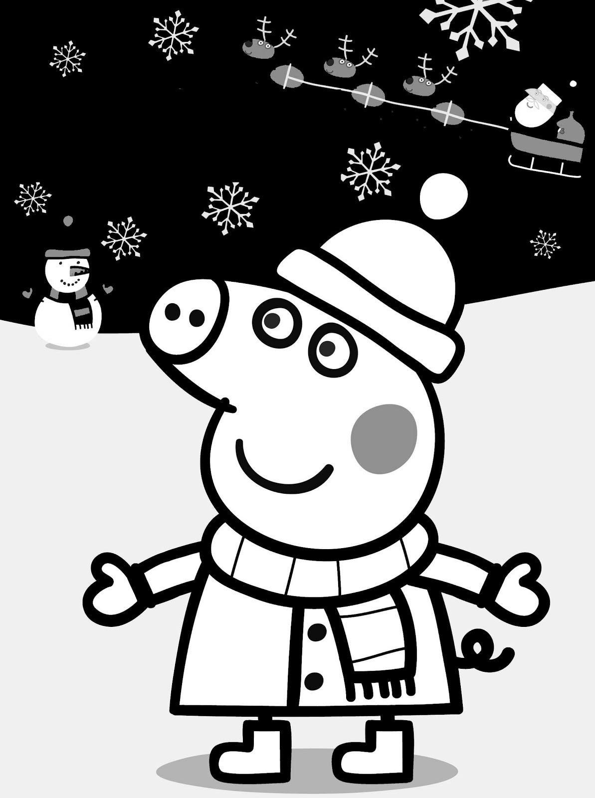 Peppa pig disegno da colorare n 3 for Maschere di peppa pig da colorare