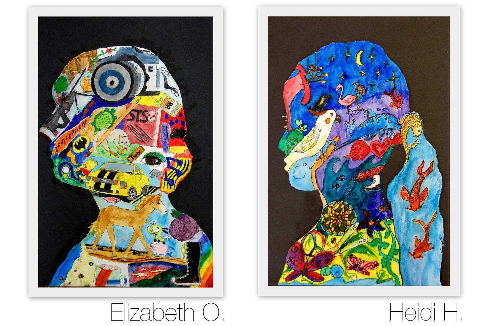 The New Hope Art Gallery Middle School Art Self Portrait