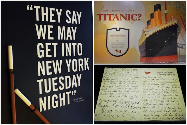 Rumbo a Nueva York, tour del Titanic y postal desde el Titanic en la exposición del Museo del Titanic en Belfast