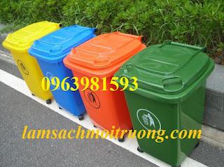 Cung cấp thùng rác 60 lít, thùng rác công nghiệp, thùng đựng rác công cộng giá rẻ