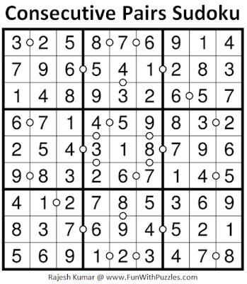 Consecutive Pairs Sudoku (Daily Sudoku League #183) Solution
