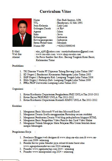 contoh resume kerja dalam bahasa indonesia koleksi contoh resume lengkap terbaik dan terkini sumber sepak bola