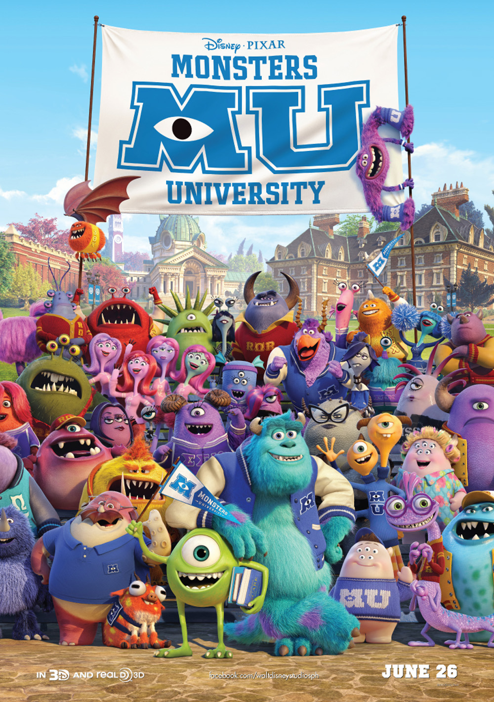 'Monsters University' Issues Global All-Character Poster ...