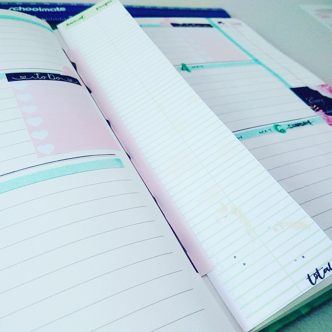 Mint Unicorn Bullet Journal Expense Tracker Insert