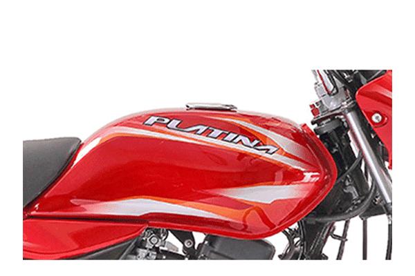 New 2018 Bajaj Platina Comfortec fuel tank