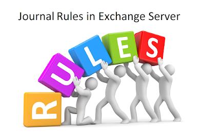 Journal Rule in Exchange 2013 or 2016