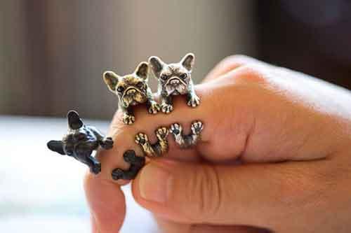 6k - Nhẫn hình chó Pug giá sỉ và lẻ rẻ nhất
