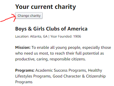 AmazonSmile Charities List