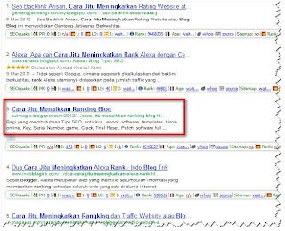 Cara Jitu Menaikkan Ranking Blog ala sukmagie
