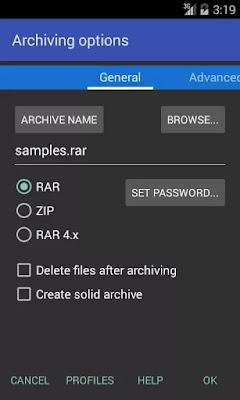 تطبيق الظغط الملفات النسخة المدفوعة