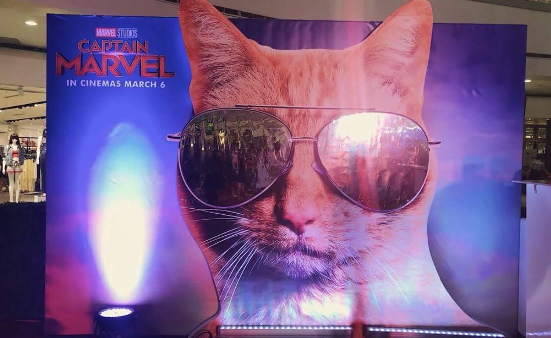 Captain Marvel Standee : ディズニー・マーベルの戦うネコ映画の最新作「キャプテン・マーベル」のクールなスタンディー ! !