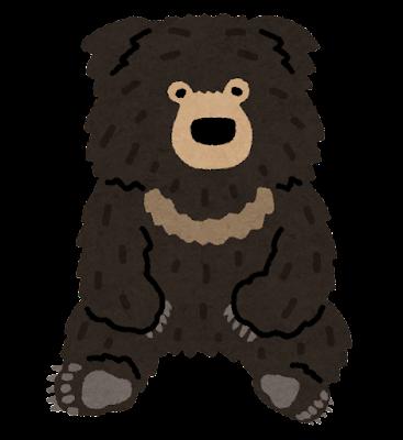 ナマケグマのイラスト