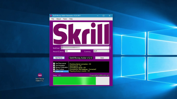 Skrill Generate Money Adder Software 2017 - Earn Up To 500
