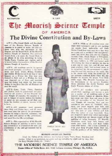 MOORISH SCIENCE TEMPLE OF AMERICA, Subordinate Temple Mir No