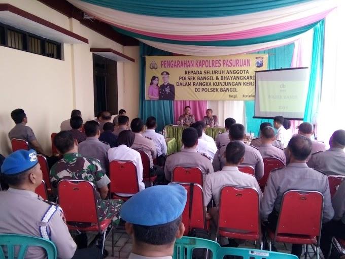 Anggota Koramil Hadiri Kunjungan Kerja Kapolres Pasuruan Di Polsek Bangil