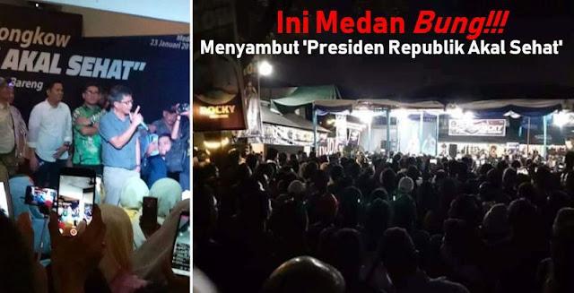 Sambutan Masyarakat Medan kepada 'Presiden Republik Akal Sehat' Rocky Gerung Bikin Merinding