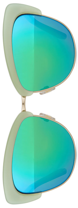 kate spade new york dual-rimmed cat-eye sunglasses,