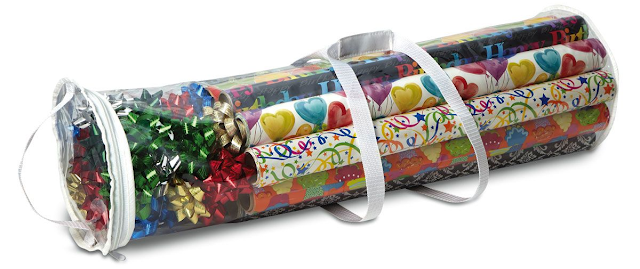 "Gift Wrap Clear Vinyl Storage Bag - 8-1/2"" x 31"" Long"