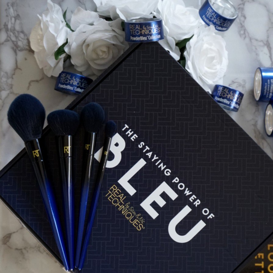 EXCLUSIVE: POWDERBLEU™COLLECTION by SAM & NIC. THE FIRST SYNTHETIC BRUSH DESIGNED SPECIFICALLY FOR POWDERS