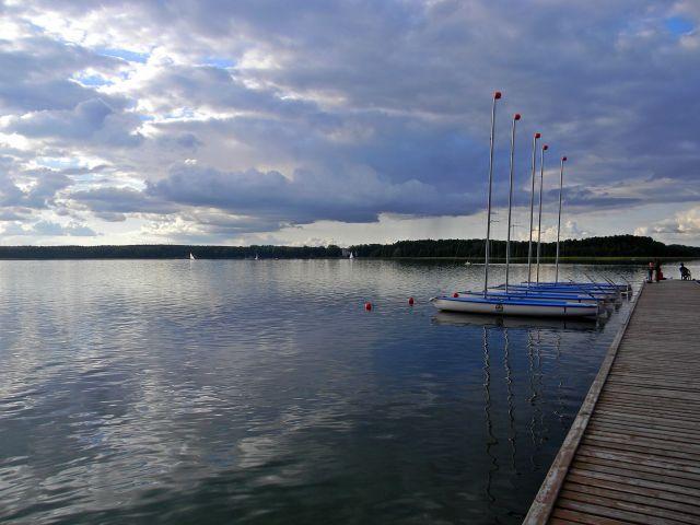 jezioro, woda, sport, żagle, Niesłysz