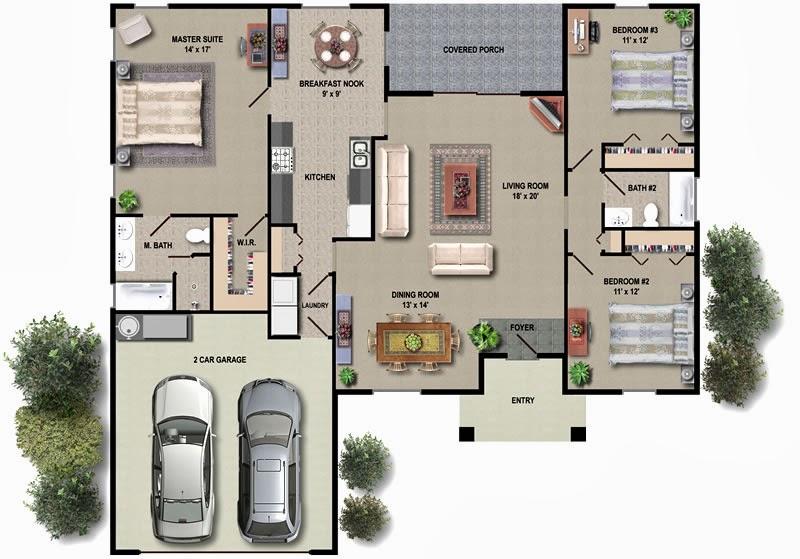 Interior House Plan H Ilbl Co
