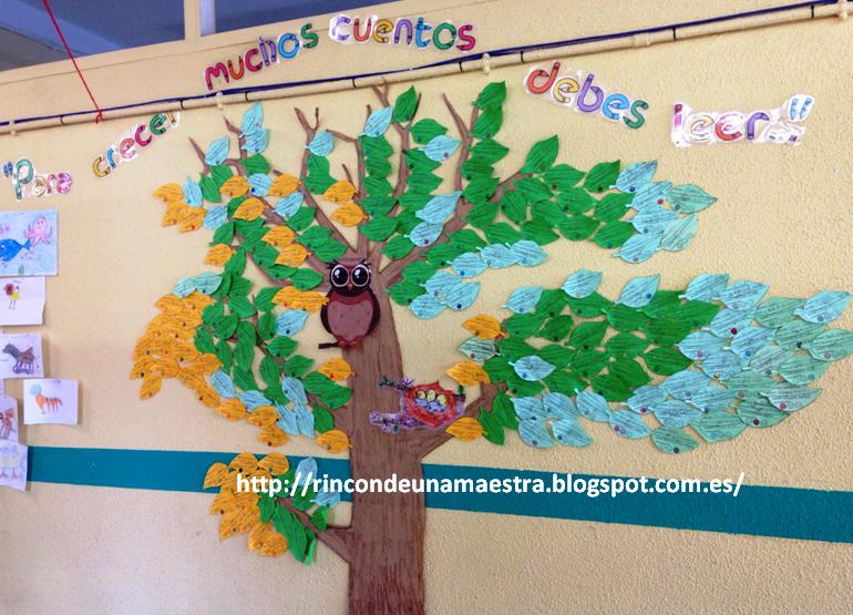 Arboles Para Decorar Aulas.Rincon De Una Maestra El Arbol De La Lectura