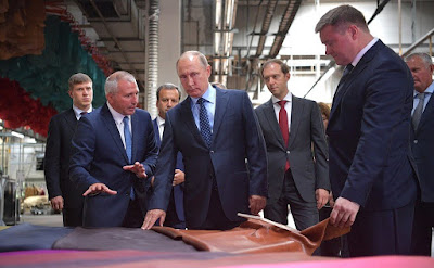 At Ryazan Tannery. Vladimir Putin got an overview of the company's main activities.