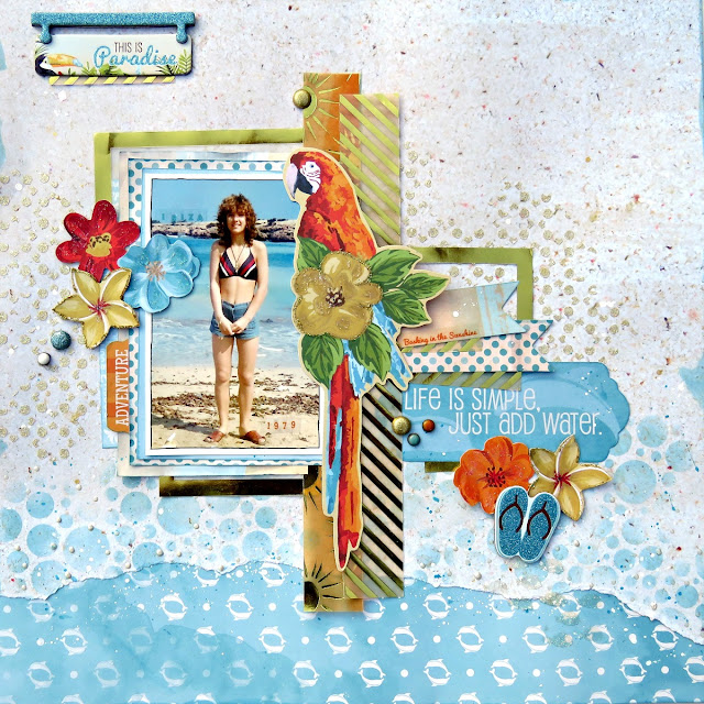Life is simple scrapbook page tracee provis bo bunny beach therapy vellum paper 01