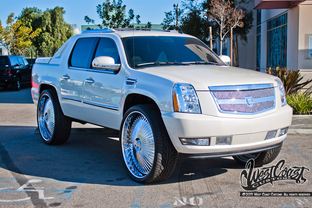 west coast customs presents a cadillac escalade doing donuts with bernie. Black Bedroom Furniture Sets. Home Design Ideas