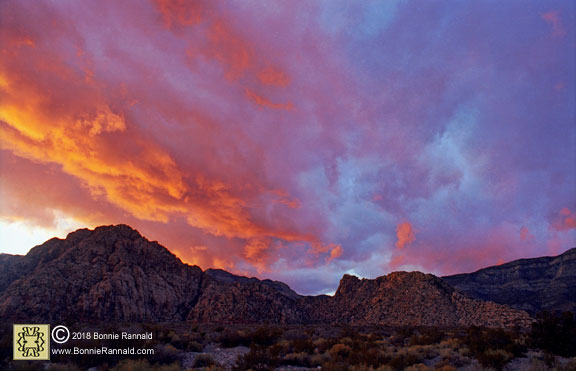 Spring Mountain Sunset, Red Rock Canyon Nevada