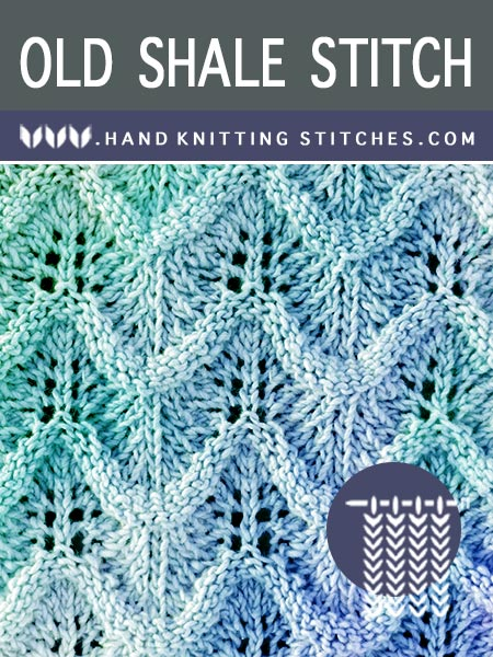The Art of #HandKnitting - Variation of the Old Shale lace pattern.