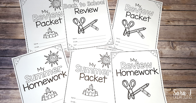 Summer review packets for grades Pre-K through 4th to help prevent the summer slide. Perfect for review at the end of the year, review at the beginning of the year, summer homework or tutoring lessons.