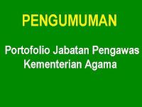 Pengumuman : Portofolio Jabatan Pengawas Kementerian Agama