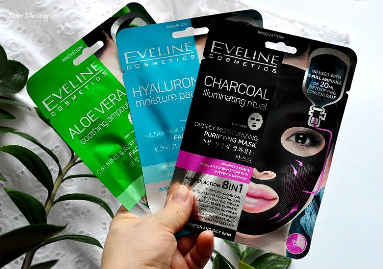 Koreańskie maski natkaninie Eveline Cosmetics - recenzja