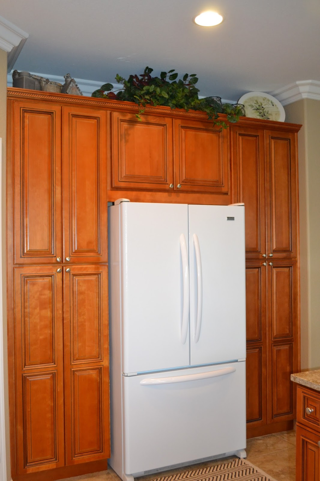 Kitchen Cabinets Around Refrigerator Particularly Practically Pretty The Kitchen Remodel