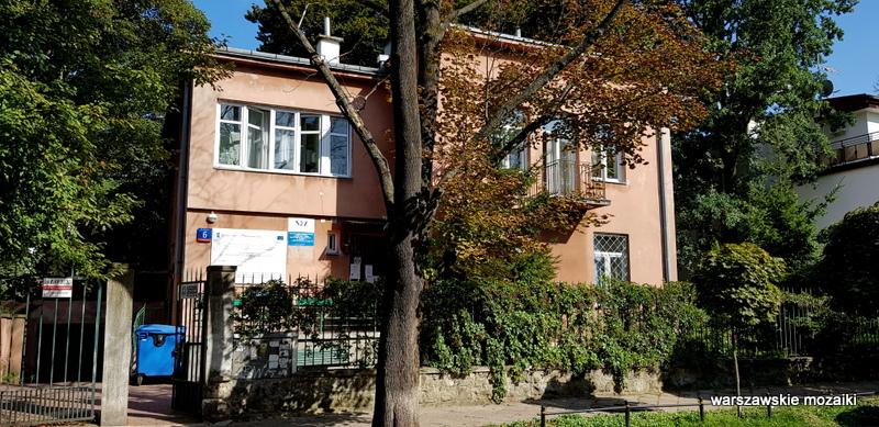 Warszawa Warsaw Saska Kępa architektura budownictwo lata 30 warszawskie ulice willa