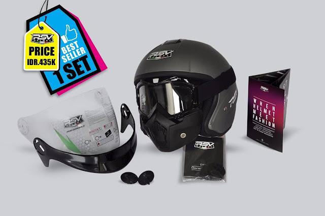 Harga Helm RSV Lengkap Terbaru Semua Tipe Full Face dan Open Face + Spesifikasi
