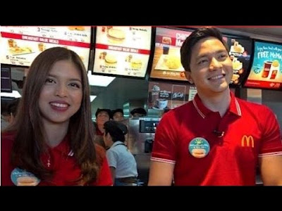 Maine and Alden at the Mcdo's National Breakfast Day