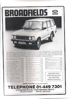 Broadfields advert from Car magazine May1990