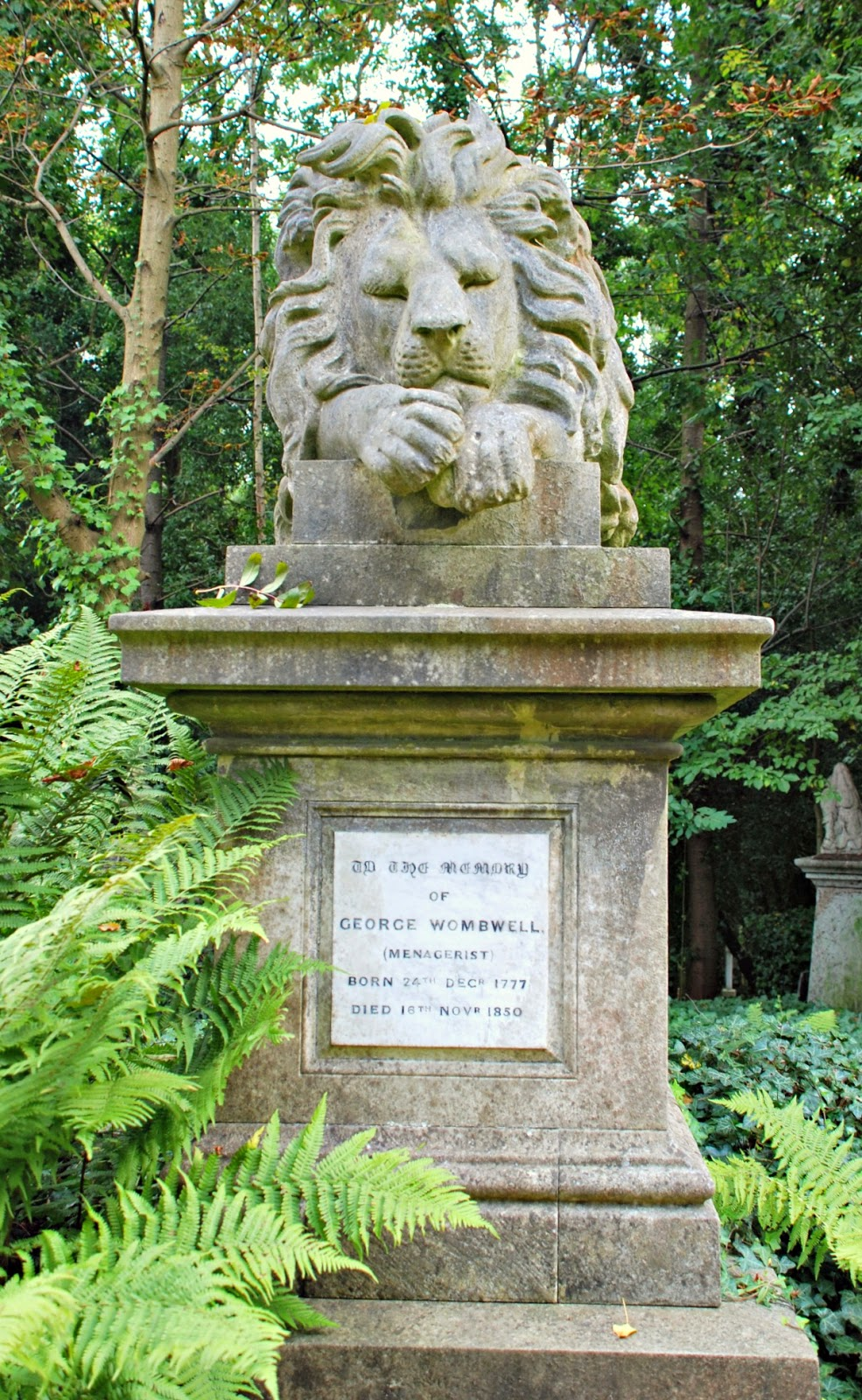George Wombwells' memorial, Highgate Cemetery, London