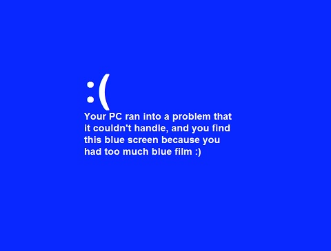 layar biru
