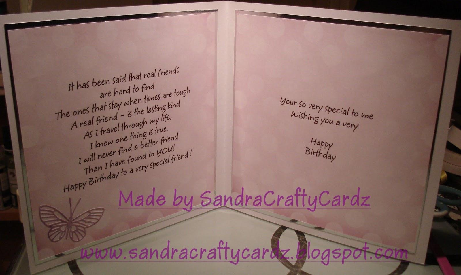 SandraCraftyCardz Best friends Birthday Card for tomorrow – Best Friends Birthday Cards