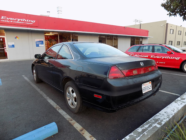Faded Honda Accord Coupe before complete car paint at Almost Everything Auto Body.