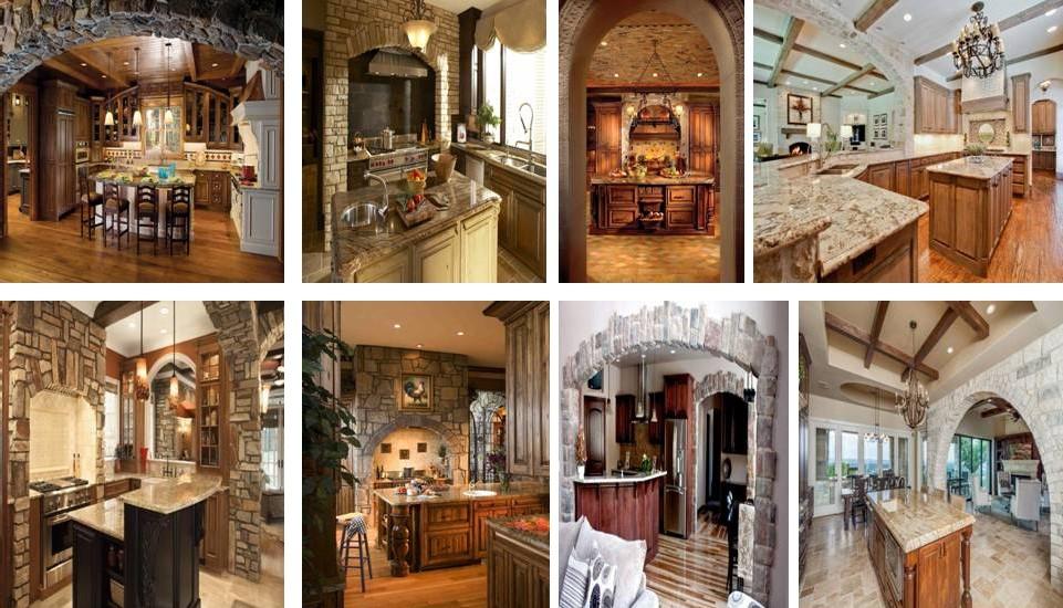 Large Stone Archway For Elegant Kitchen Design - Decor Units