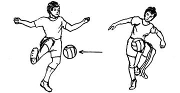 Menghentikan Bola dengan Kaki Bagian Dalam dan Paha