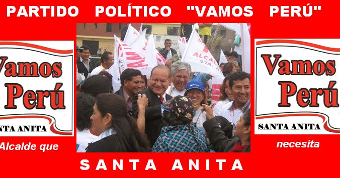 Partido Pol 205 Tico Vamos Per 218 Distrito De Santa Anita