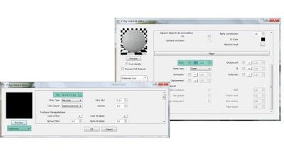 V-ray material editor: Kerb settings