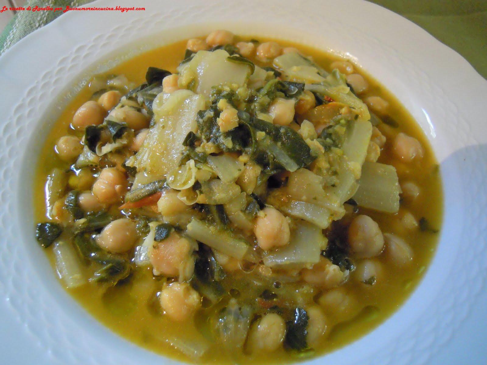 Buonumore in cucina zuppa di ceci e bietola da coste allo for Cucinare bietole