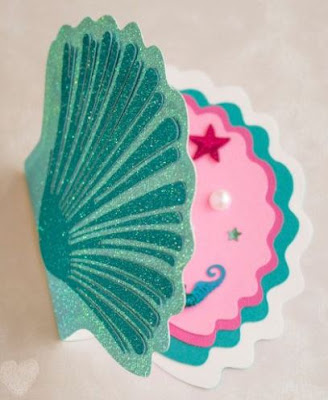 Cumpleaños de la Sirenita: Invitaciones con Forma de Concha para Imprimir Gratis.