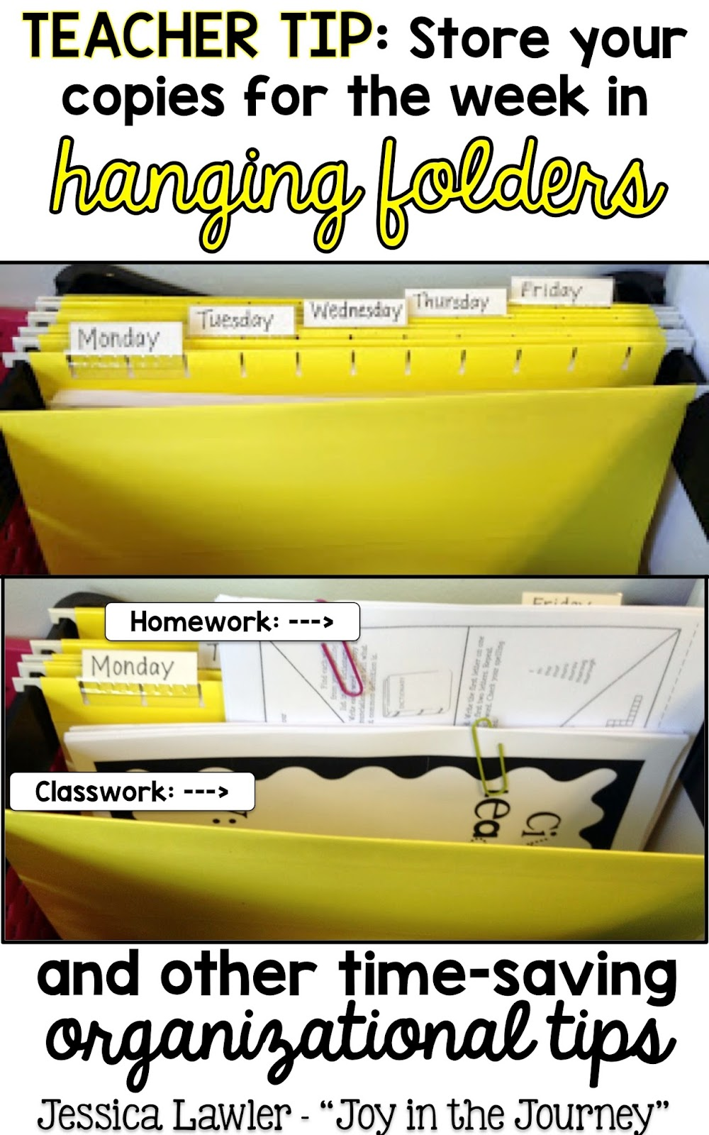 tricks of the trade thursdays: teacher desk organization - ~joy in